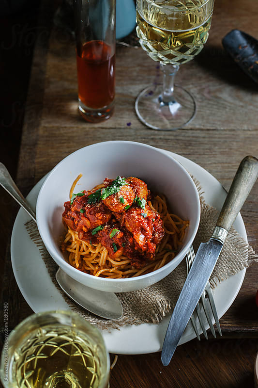 Spaghetti Bolognese by Darren Muir for Stocksy United