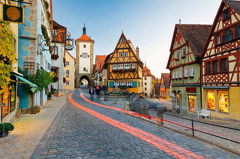 Ploenlein, Siebers Tower, Rothenburg ob der Tauber, Franconia, Bavaria, Germany by Gavin Hellier for Stocksy United