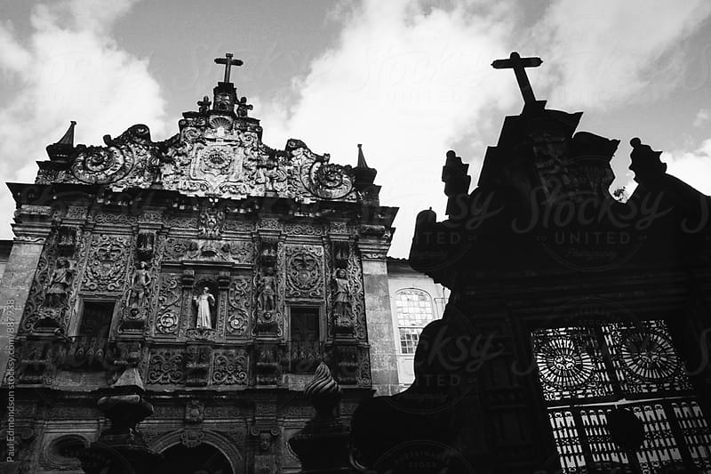 Spanish colonial church in historic Pelourinho District, Salvador, Bahia, Brazil  by Paul Edmondson for Stocksy United