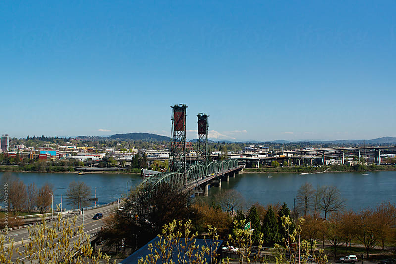Hawthorne Bridge in Portland Oregon by Tana Teel for Stocksy United