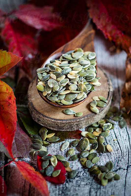 Pumpkin seeds by Susan Brooks-Dammann for Stocksy United