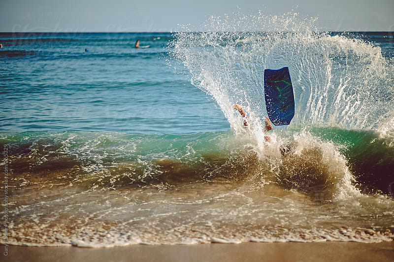 Boogie Board Wipeout, Hawaii by Gary Radler Photography for Stocksy United