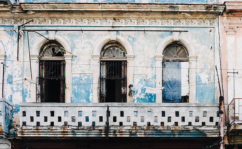 Old facade in Centro Habana by Natasa Kukic for Stocksy United