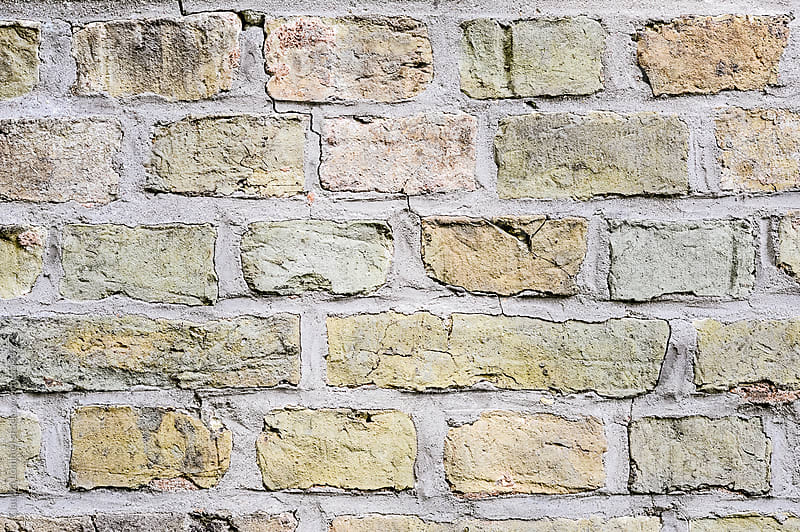 Weathered Brick Wall Background by Claudia Lommel for Stocksy United
