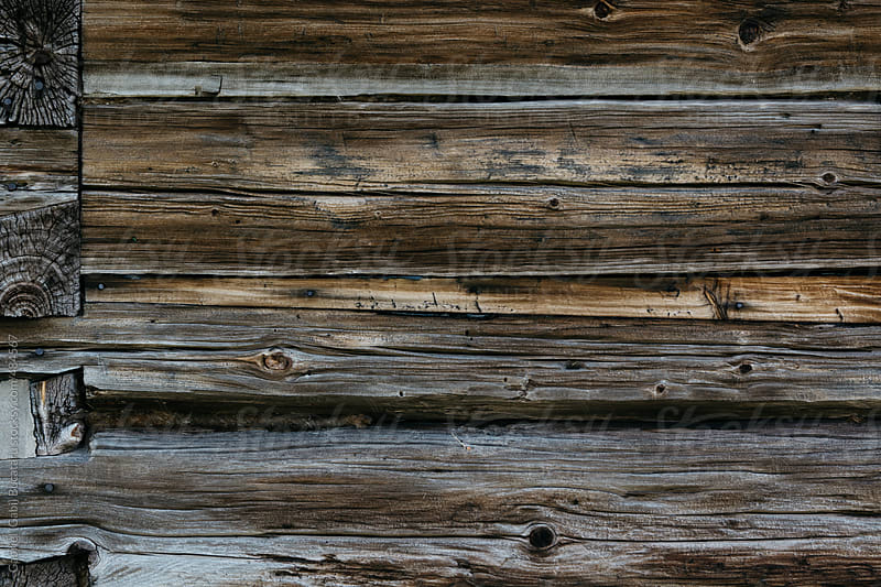 Structure detail of an old log cabin wall by Gabriel (Gabi) Bucataru for Stocksy United