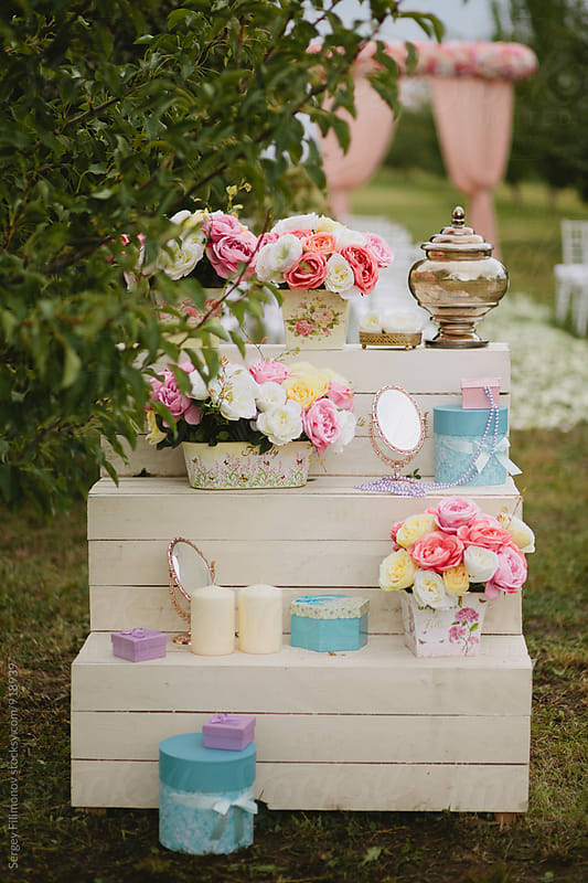Creative wedding decor by Sergey Filimonov for Stocksy United