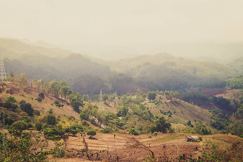 Tropical mountain landscape around Pai Mae Hong Son in North Thailand by Soren Egeberg for Stocksy United