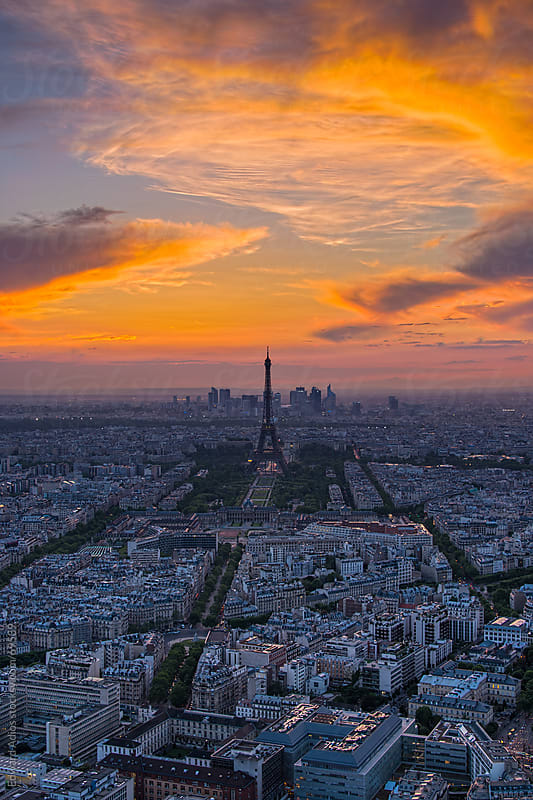 Paris Sunset by Edward Adios for Stocksy United