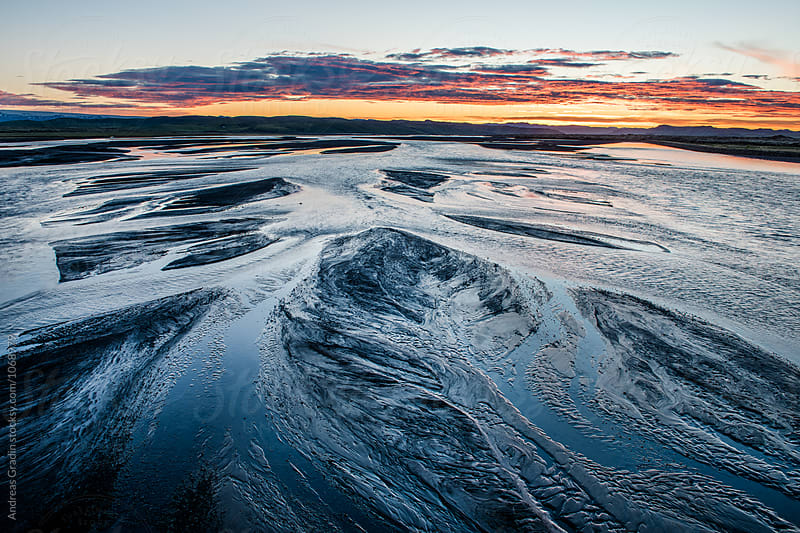 iceland sunset by Andreas Gradin for Stocksy United