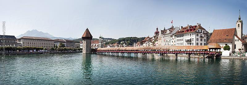 Chapel Bridge in Lucerne (Luzern), Switzerland by Julien L. Balmer for Stocksy United