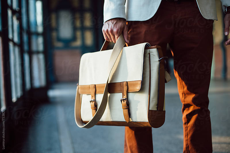Stylish Man With a Shoulder Bag by Lumina for Stocksy United