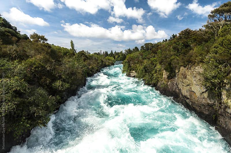 The Huka Falls River by Maximilian Guy McNair MacEwan for Stocksy United