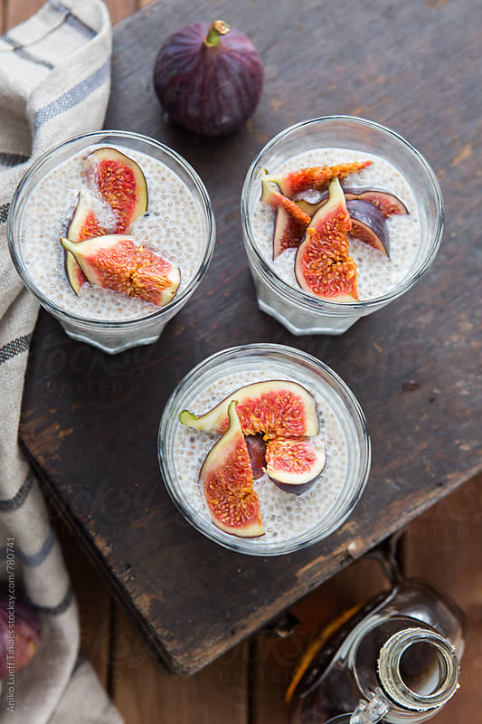 Chia seed porridge by Aniko Lueff Takacs for Stocksy United