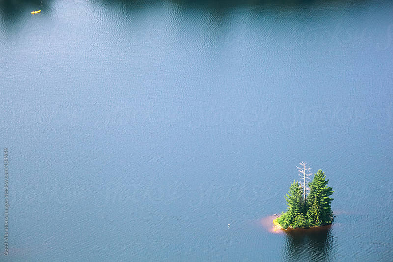 Small Island in the Lake by Good Vibrations Images for Stocksy United