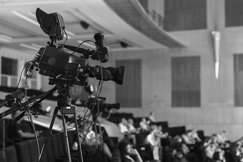 A camcorder recording during a congress by Luis Cerdeira for Stocksy United