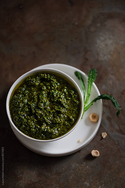 Pesto of cavolo nero or black cabbage  by Laura Adani for Stocksy United