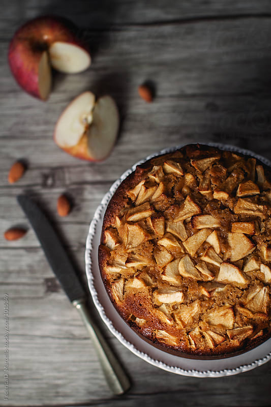 Almond honey apple cake by Federica Di Marcello for Stocksy United