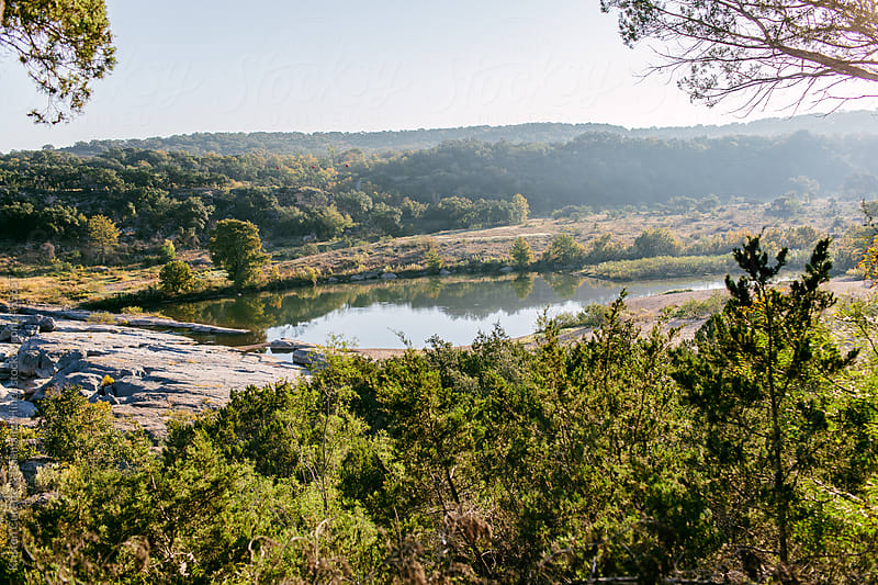 Beautiful Texas hill country landscape by Kristen Curette Hines for Stocksy United
