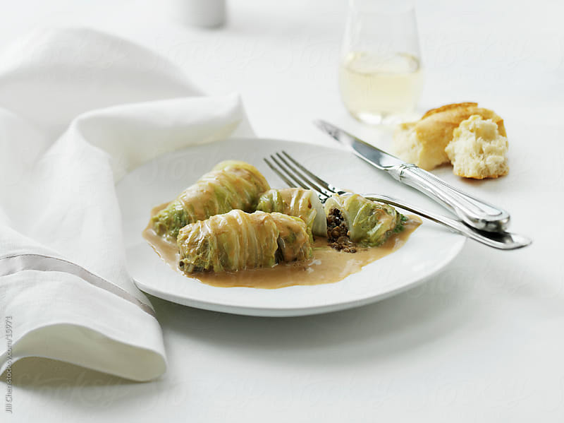 Vegetarian Cabbage Rolls by Jill Chen for Stocksy United