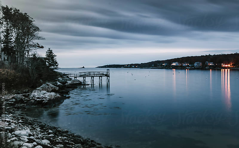 Maine Coast in Autumn by Raymond Forbes LLC for Stocksy United