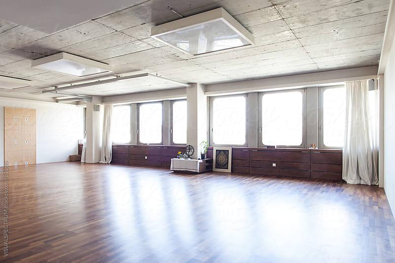 Empty Yoga Studio by VISUALSPECTRUM for Stocksy United