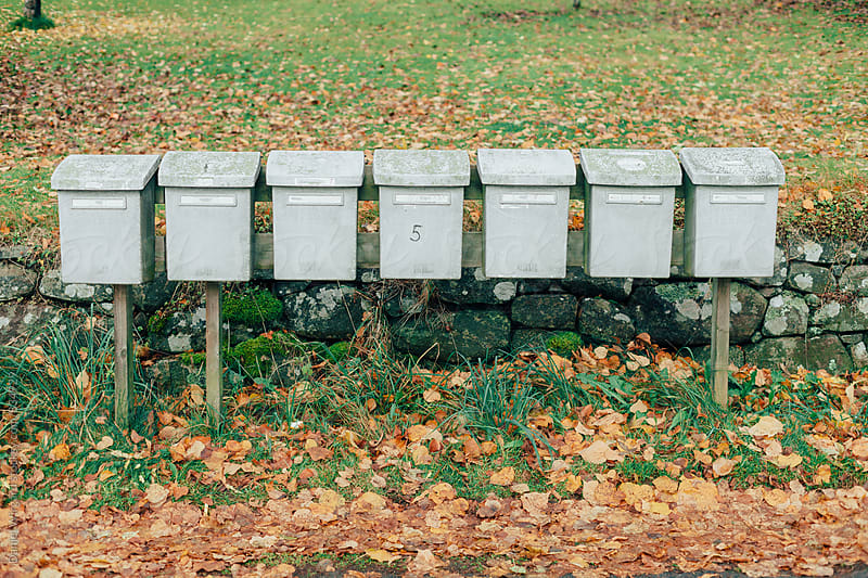 Mail boxes by Daniel Wirgård for Stocksy United