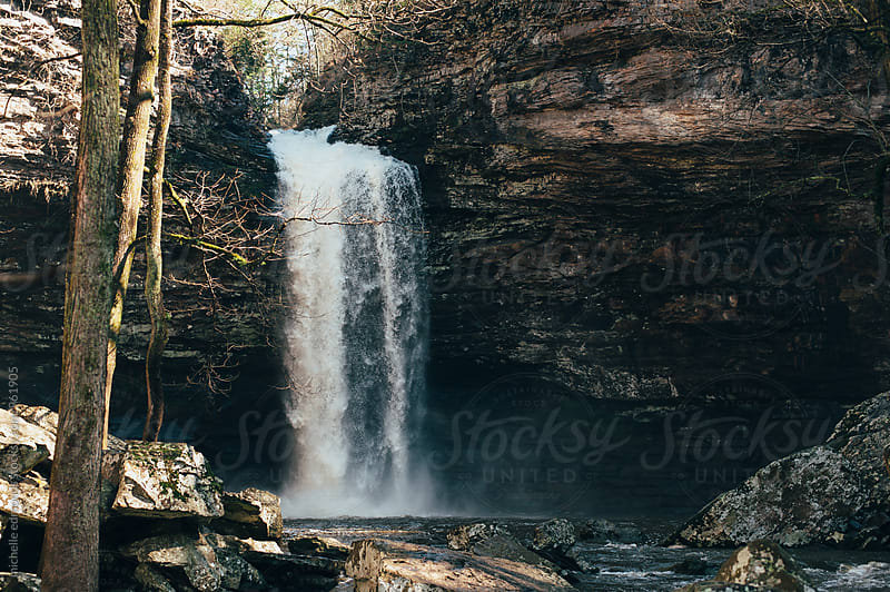 Waterfall in Arkansas by michelle edmonds for Stocksy United