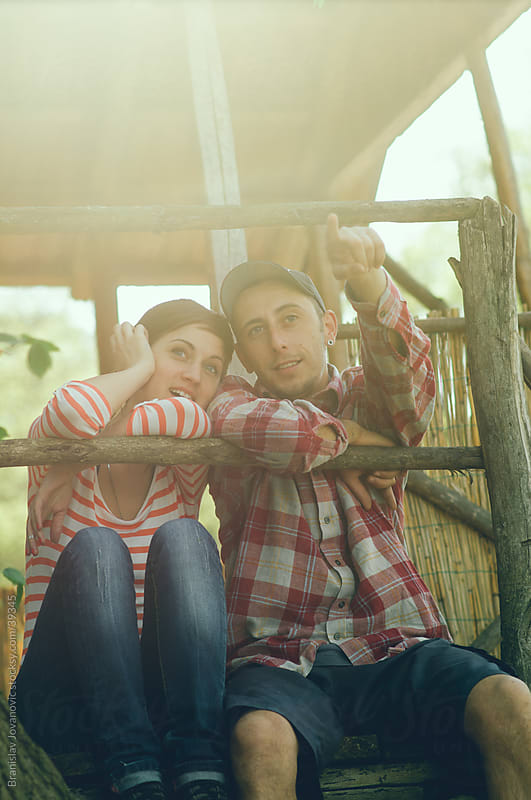 Young couple in love  by Brkati Krokodil for Stocksy United