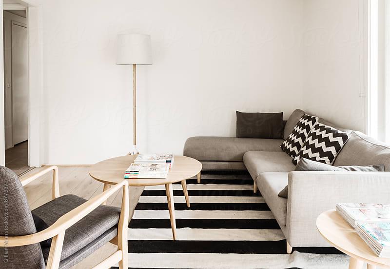 modern minimalist lounge room by Gillian Vann for Stocksy United