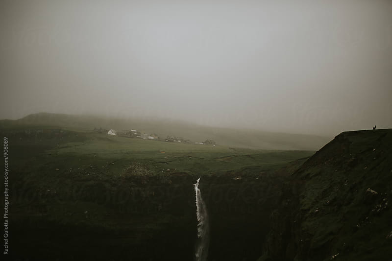 Waterfall at Gasadular, Faroe Islands by Rachel Gulotta Photography for Stocksy United