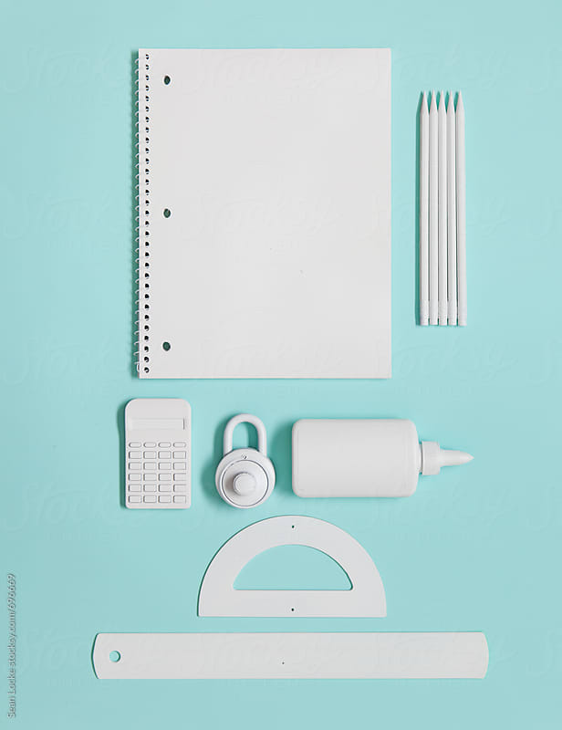White School Supplies For A Higher Level Student by Sean Locke for Stocksy United