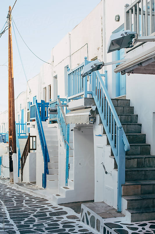 Typical houses in Mykonos by michela ravasio for Stocksy United