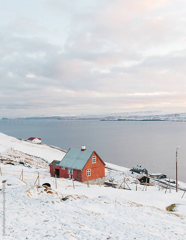 Red house, Faroe Islands by Kevin Faingnaert for Stocksy United