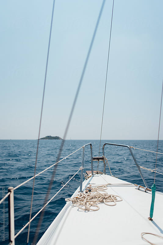 Front part of the sailboat by Boris Jovanovic for Stocksy United