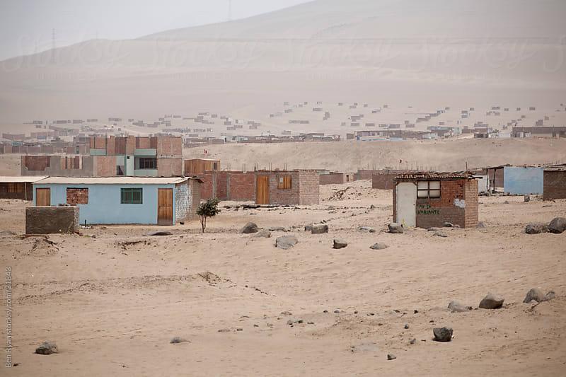 Desert shanty town by Ben Ryan for Stocksy United