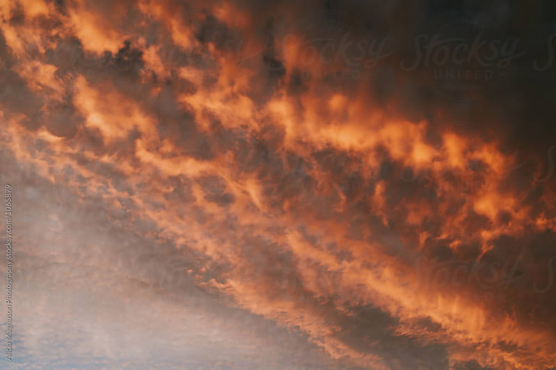Red Clouds at Sunset by Alicia Magnuson Photography for Stocksy United