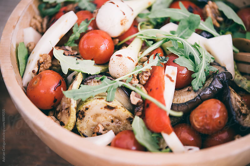Salad with grilled vedetables by Adrian Cotiga for Stocksy United