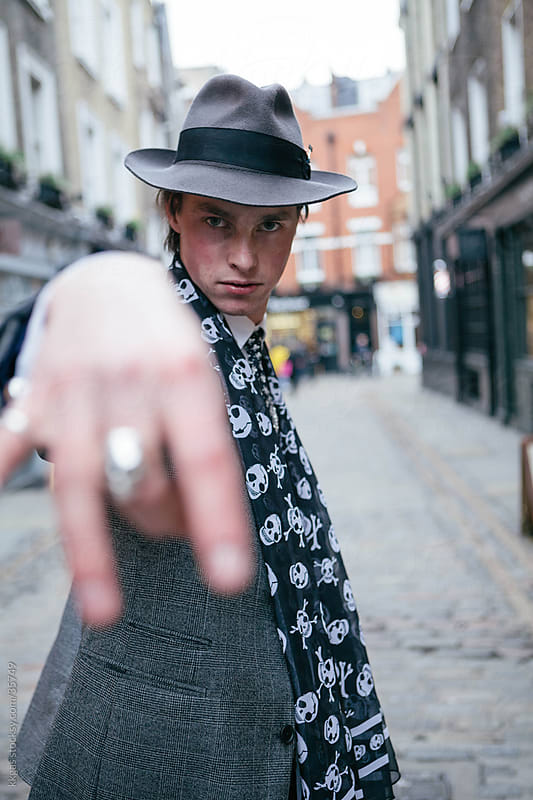 Confident young man in Soho London. by kkgas for Stocksy United