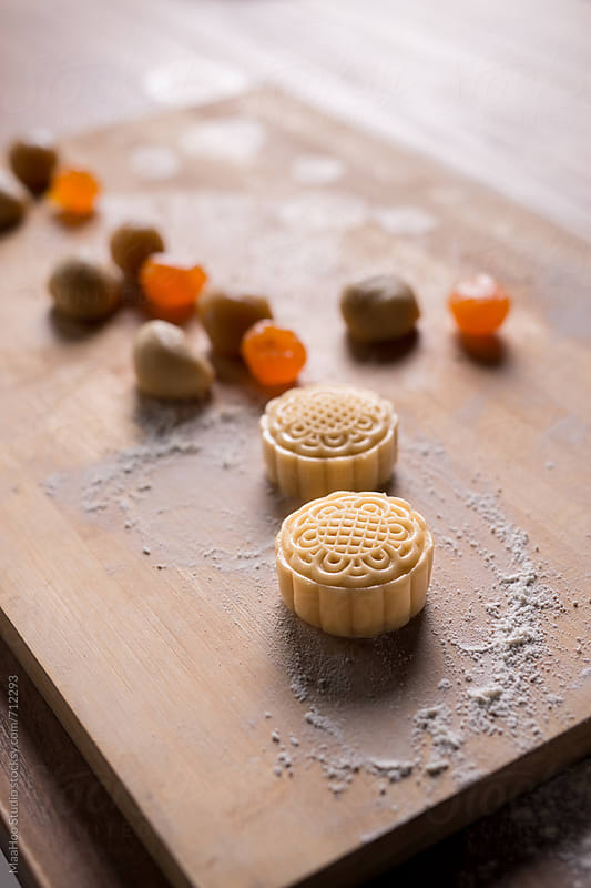 Hand made mooncake by MaaHoo Studio for Stocksy United