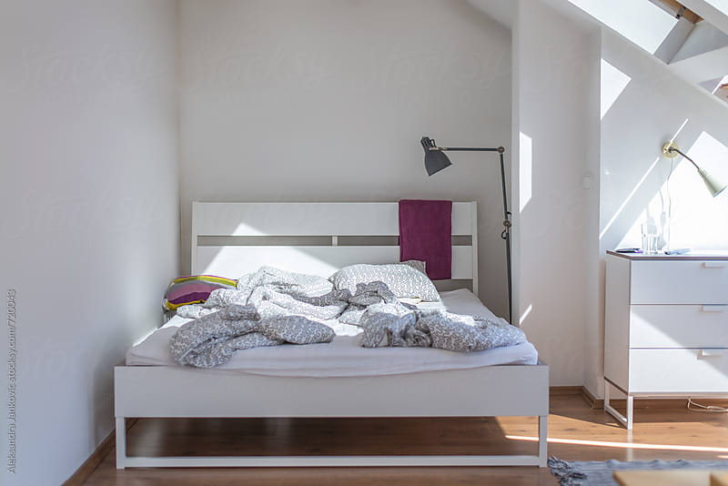 Messy Bed in the Morning by Aleksandra Jankovic for Stocksy United