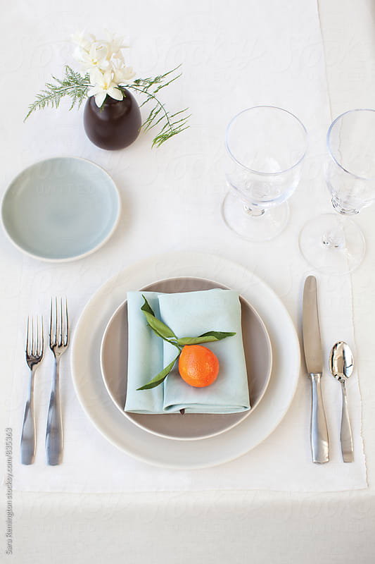 Small Casual Table Setting by Sara Remington for Stocksy United
