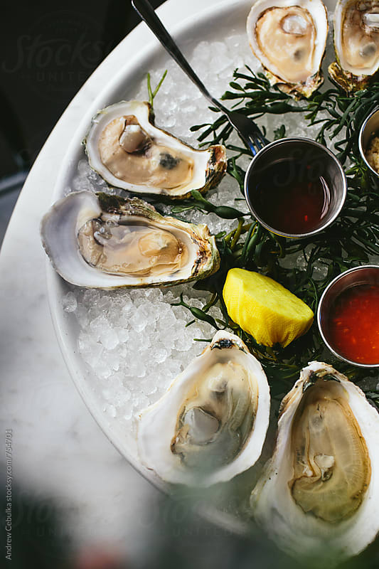 Oysters by Andrew Cebulka for Stocksy United
