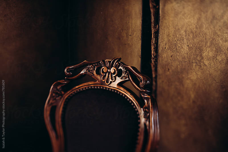 Detail of vintage chair by Isaiah & Taylor Photography for Stocksy United