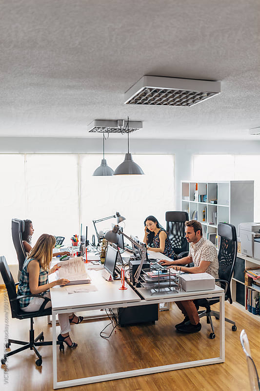 People in a Coworking Trendy Office