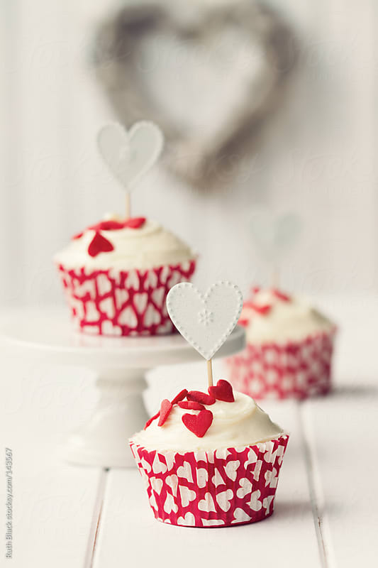 Valentine cupcakes by Ruth Black for Stocksy United