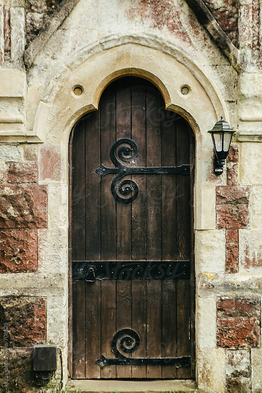 The door to a one thousand year old Anglican church by kkgas for Stocksy United