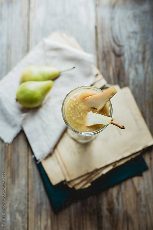 Pear smoothie by Tatjana Zlatkovic for Stocksy United