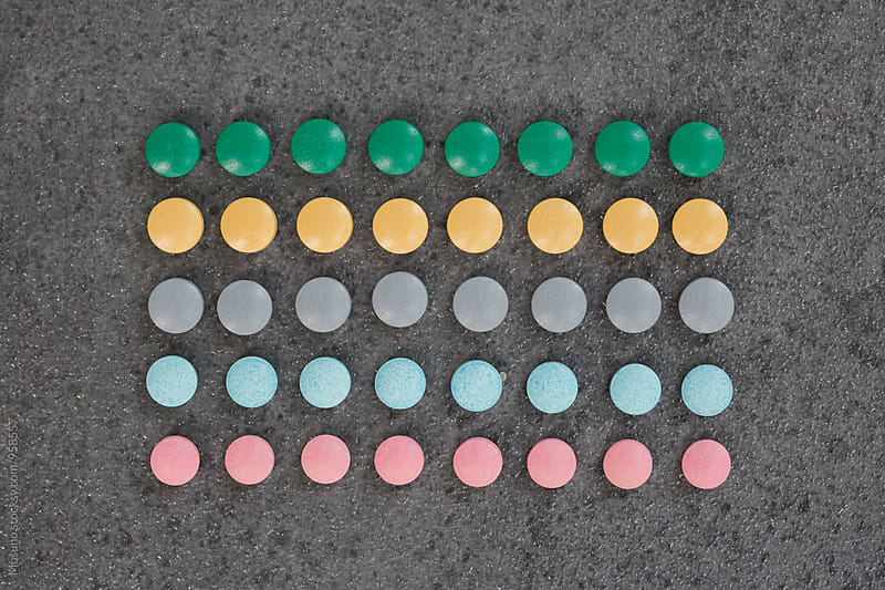 Pills in a Row by Mosuno for Stocksy United