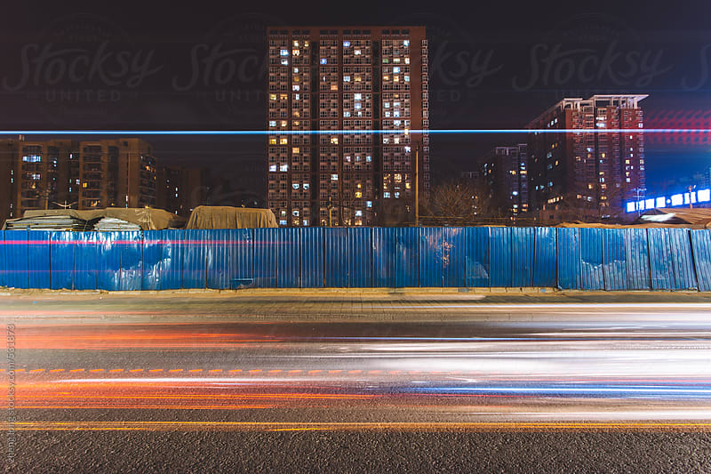 The night of Beijing by zheng long for Stocksy United