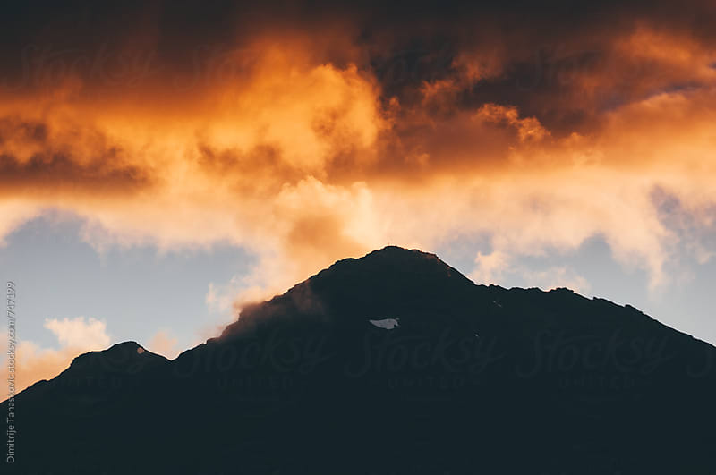 Mountain sunset by Dimitrije Tanaskovic for Stocksy United